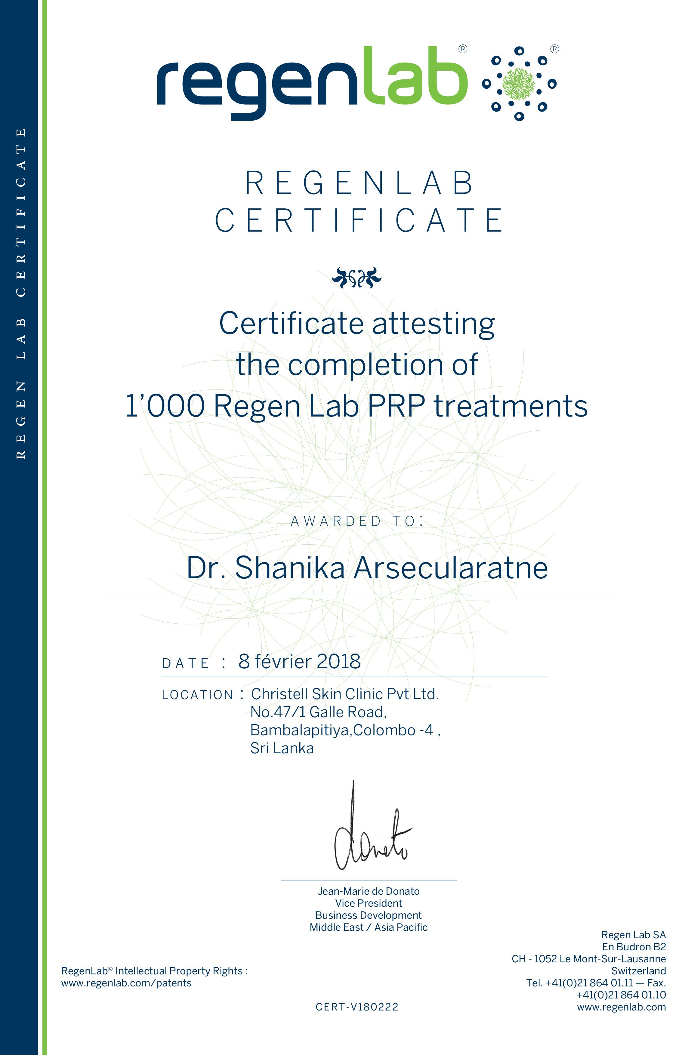 Certificate-1000-1 Dr. Pavitra De Seram
